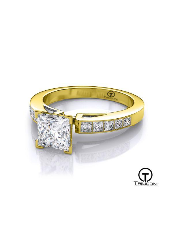 Alessa_ACOA || Anillo de Compromiso oro Amarillo Trimooni