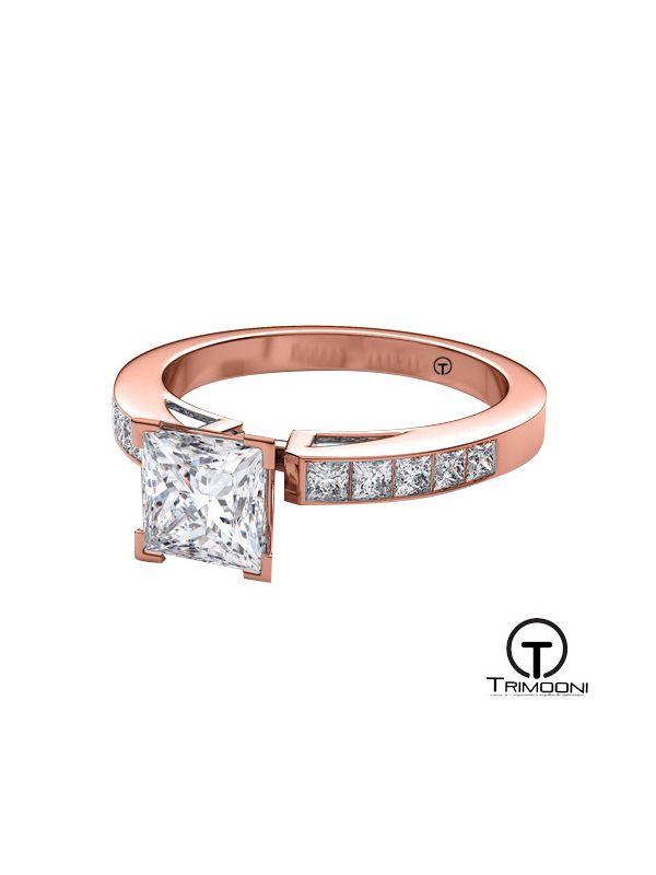 Alessa_ACOR || Anillo de Compromiso oro rosado Trimooni