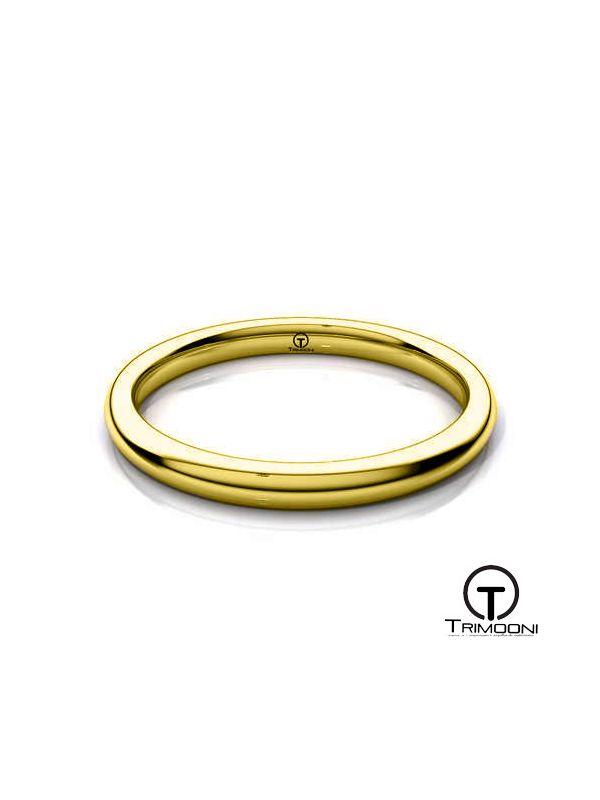 AMOA002H-  Argolla Matrimonio Oro Amarillo Trimooni