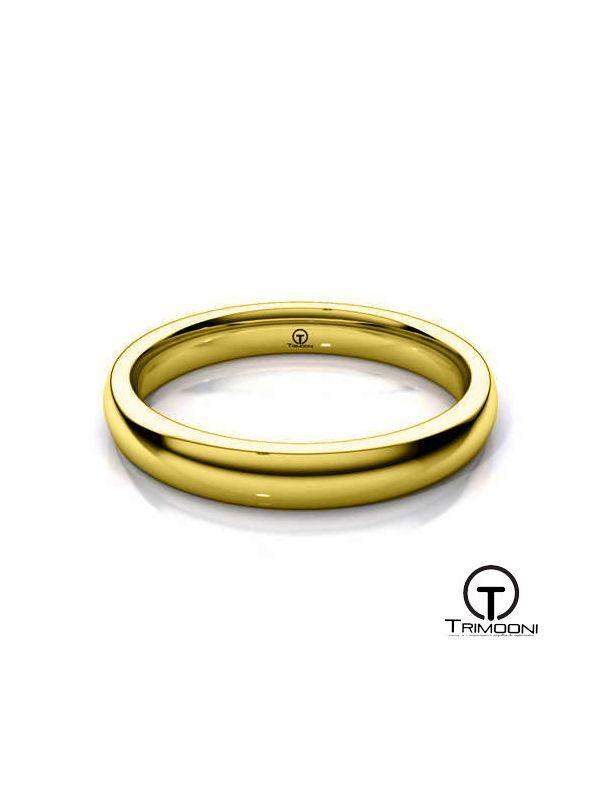AMOA003H-  Argolla Matrimonio Oro Amarillo Trimooni
