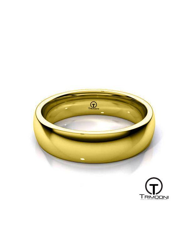 AMOA004H-  Argolla Matrimonio Oro Amarillo Trimooni