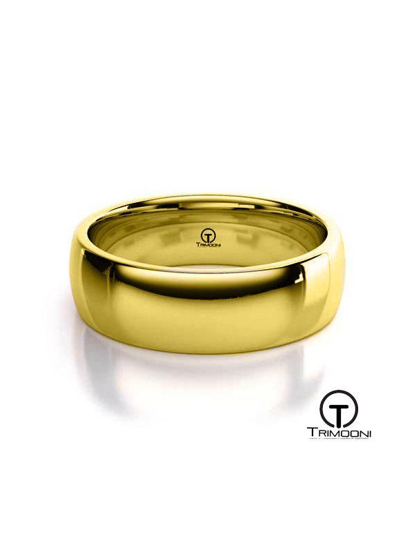 AMOA006H-  Argolla Matrimonio Oro Amarillo Trimooni