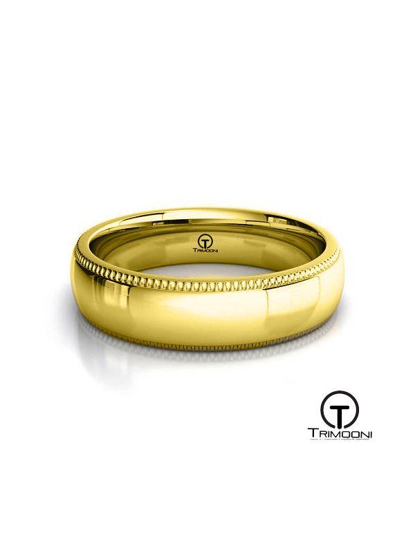 AMOA007H-  Argolla Matrimonio Oro Amarillo Trimooni