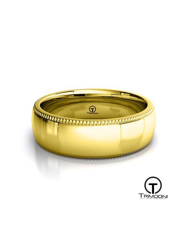 AMOA008H-  Argolla Matrimonio Oro Amarillo Trimooni