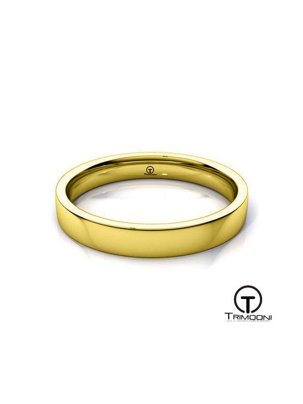 AMOA009H-  Argolla Matrimonio Oro Amarillo Trimooni