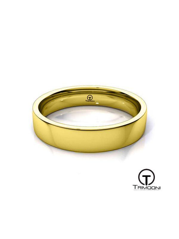 AMOA010H-  Argolla Matrimonio Oro Amarillo Trimooni