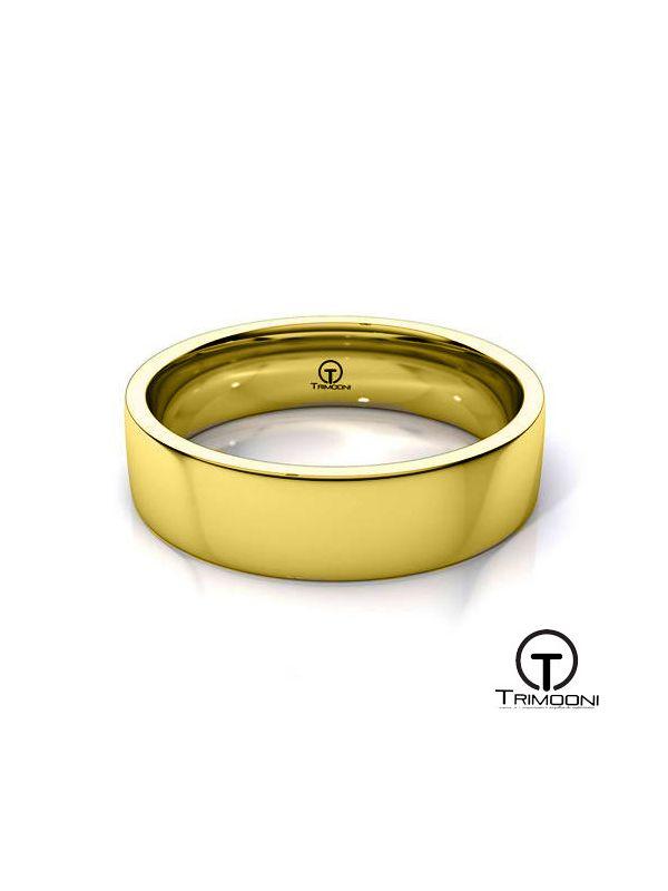 AMOA011H-  Argolla Matrimonio Oro Amarillo Trimooni