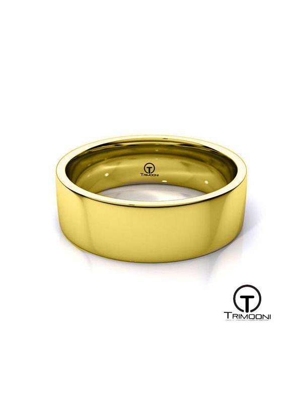 AMOA012H-  Argolla Matrimonio Oro Amarillo Trimooni