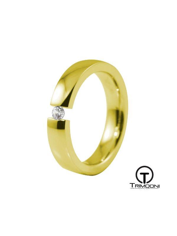 AMOA015M-  Argolla Matrimonio Oro Amarillo Trimooni