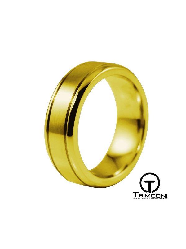 AMOA016H-  Argolla Matrimonio Oro Amarillo Trimooni