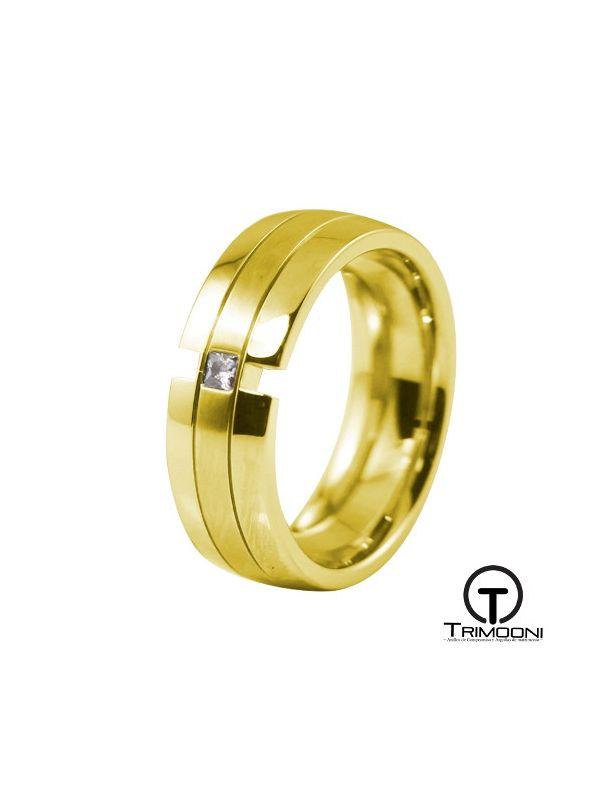 AMOA017M-  Argolla Matrimonio Oro Amarillo Trimooni