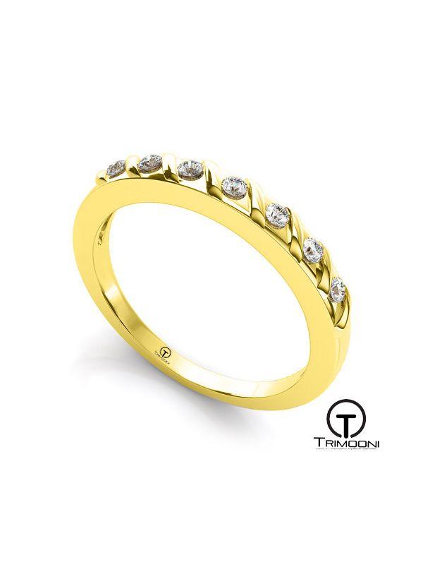 AMOA019M-  Argolla Matrimonio Oro Amarillo Trimooni