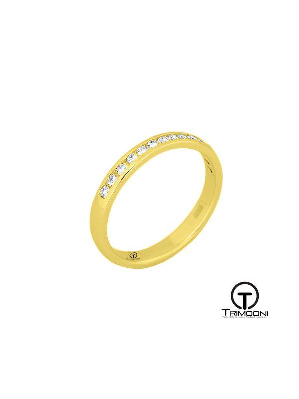 AMOA025M-  Argolla Matrimonio Oro Amarillo Trimooni