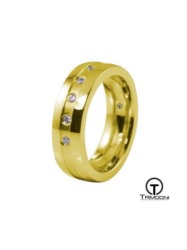 AMOA026M-  Argolla Matrimonio Oro Amarillo Trimooni