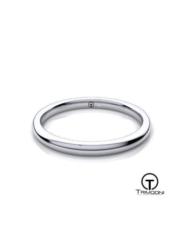 AMOB002H-  Argolla Matrimonio Oro Blanco Trimooni