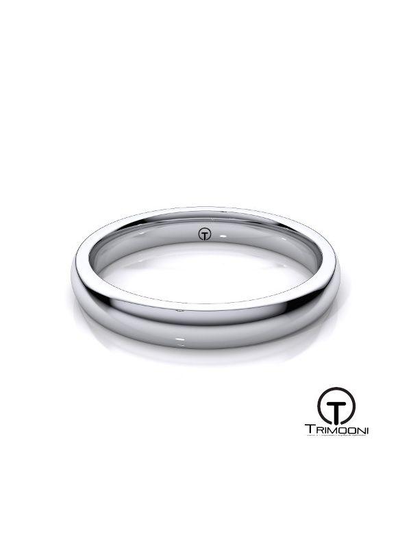 AMOB003M-  Argolla Matrimonio Oro Blanco Trimooni