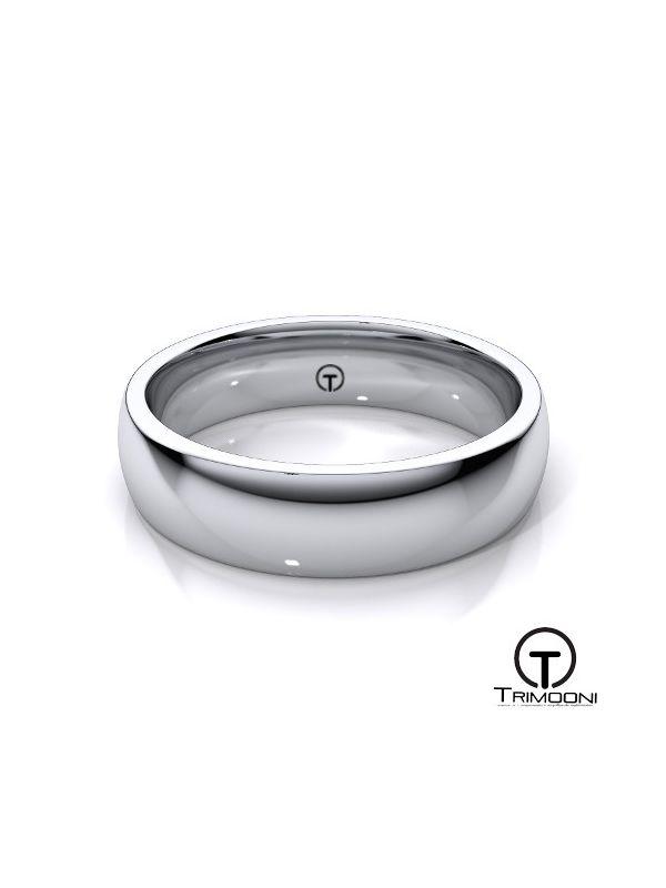 AMOB004M-  Argolla Matrimonio Oro Blanco Trimooni