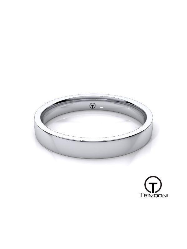 AMOB009M-  Argolla Matrimonio Oro Blanco Trimooni