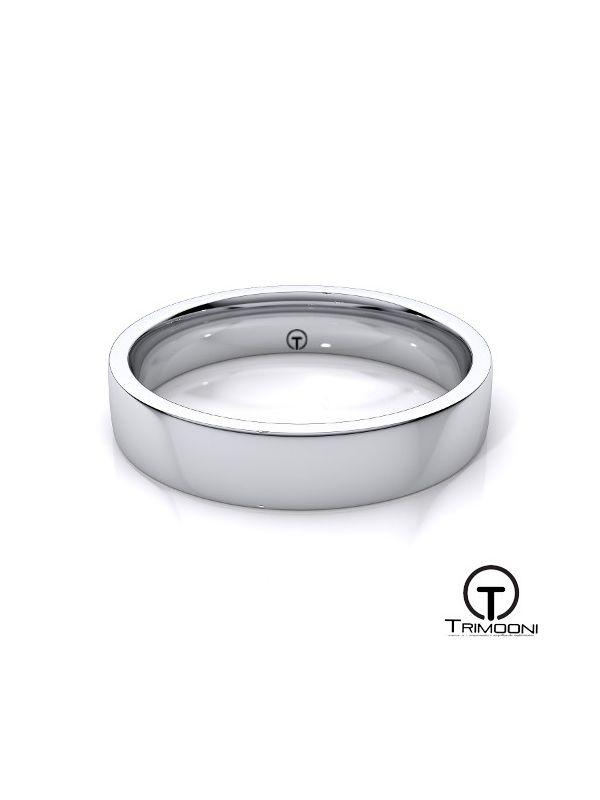 AMOB010M-  Argolla Matrimonio Oro Blanco Trimooni