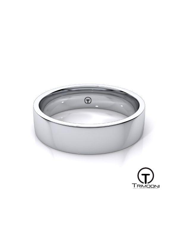 AMOB011M-  Argolla Matrimonio Oro Blanco Trimooni