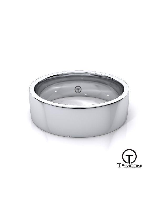 AMOB012H-  Argolla Matrimonio Oro Blanco Trimooni