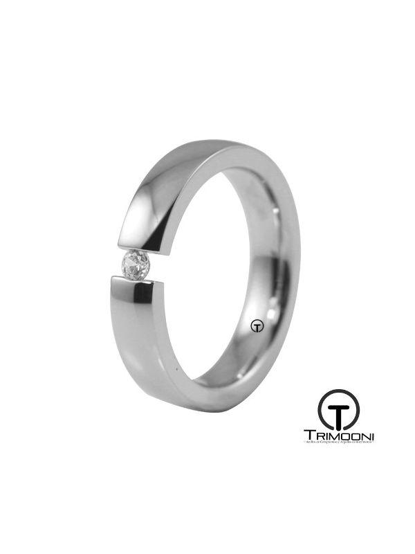 AMOB015M-  Argolla Matrimonio Oro Blanco Trimooni