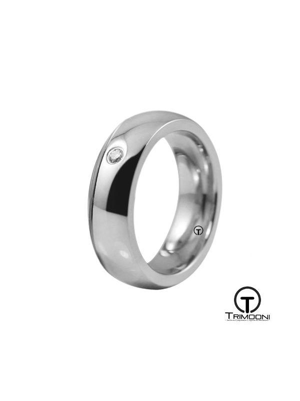 AMOB016M-  Argolla Matrimonio Oro Blanco Trimooni