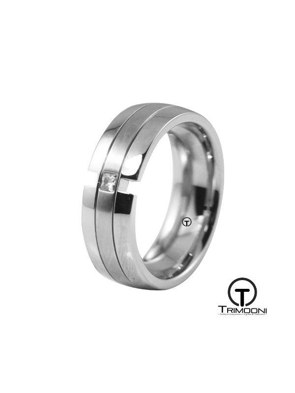 AMOB017M-  Argolla Matrimonio Oro Blanco Trimooni