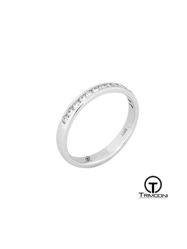 AMOB025M-  Argolla Matrimonio Oro Blanco Trimooni