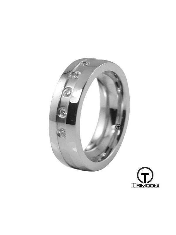 AMOB026M-  Argolla Matrimonio Oro Blanco Trimooni