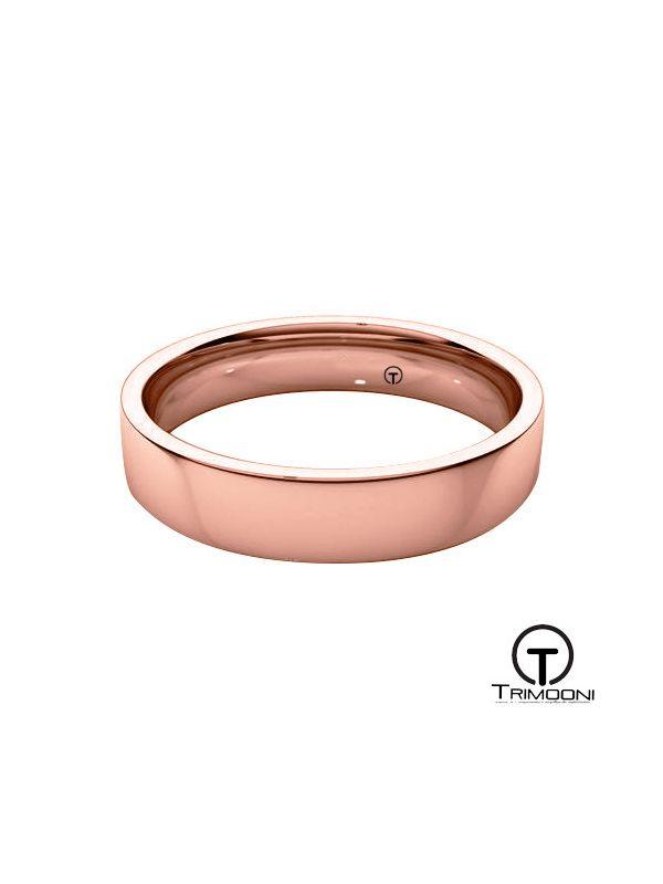 AMOR010H-  Argolla Matrimonio Oro Rosado Trimooni