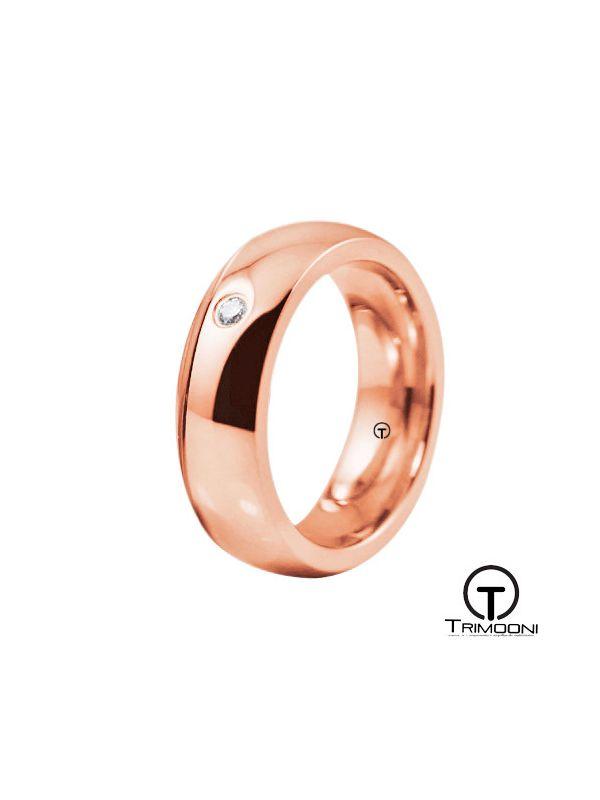 AMOR016M-  Argolla Matrimonio Oro Rosado Trimooni
