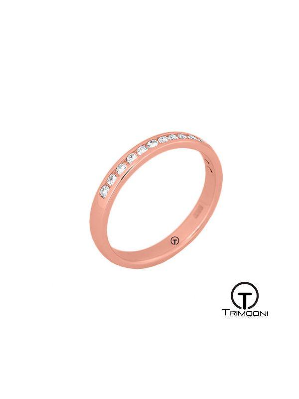 AMOR023M-  Argolla Matrimonio Oro Rosado Trimooni
