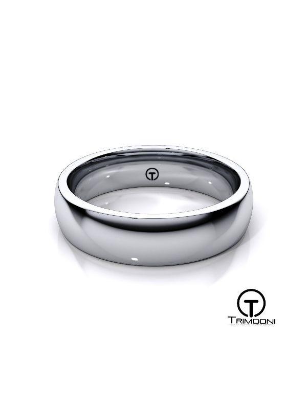 AMPT004M-  Argolla Matrimonio Platino Trimooni