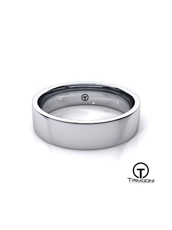 AMPT011H-  Argolla Matrimonio Platino Trimooni