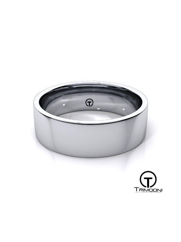 AMPT012M-  Argolla Matrimonio Platino Trimooni
