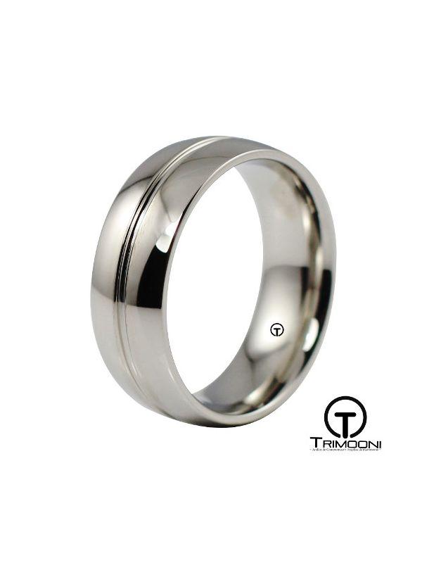 AMPT015H-  Argolla Matrimonio Platino Trimooni