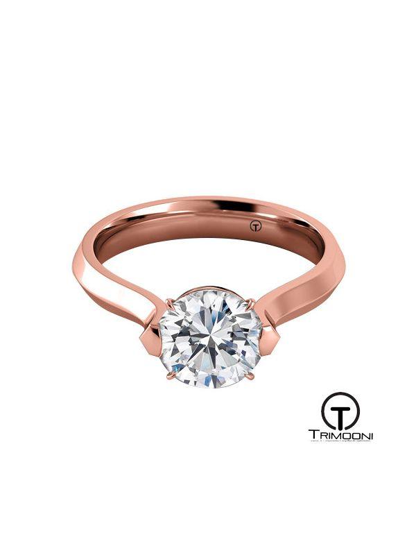 Angio_ACOR || Anillo de Compromiso oro rosado Trimooni