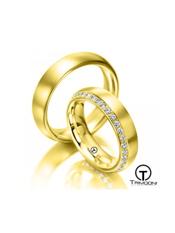 Apulia_OAS-  Set (pareja) de Argollas Matrimonio Oro Amarillo Trimooni