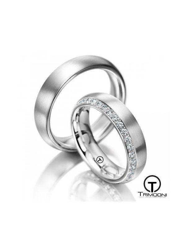 Apulia_OBS-  Set (pareja) de Argollas Matrimonio Oro Blanco Trimooni