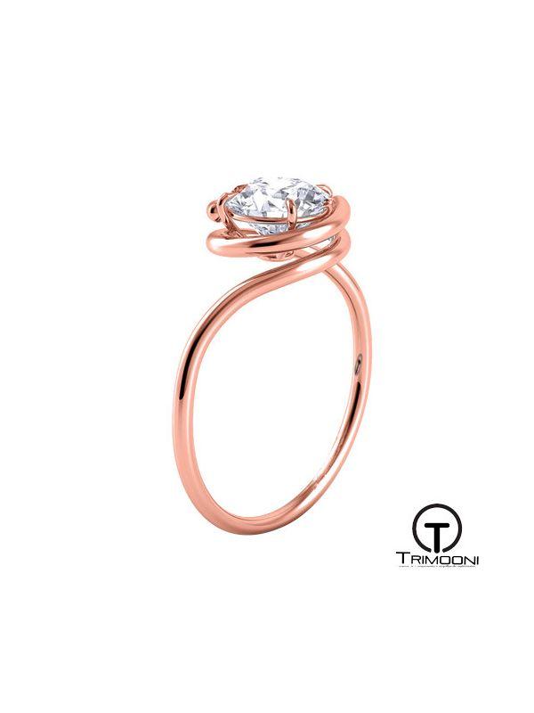 Aquio_ACOR || Anillo de Compromiso oro rosado Trimooni