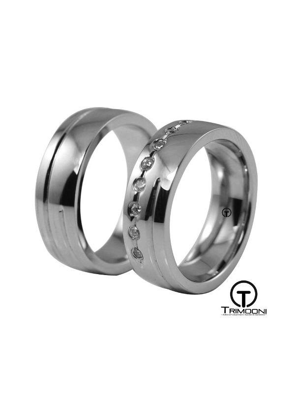 Ara_PTS-  Set (pareja) de Argollas Matrimonio Platino Trimooni