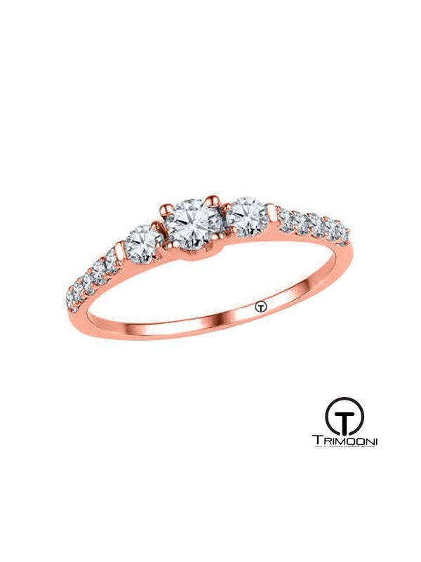 Atenea_ACOR || Anillo de Compromiso oro rosado Trimooni