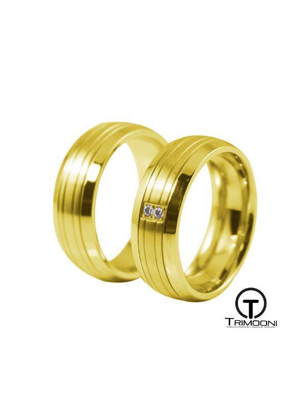Barca_OAS-  Set (pareja) de Argollas Matrimonio Oro Amarillo Trimooni