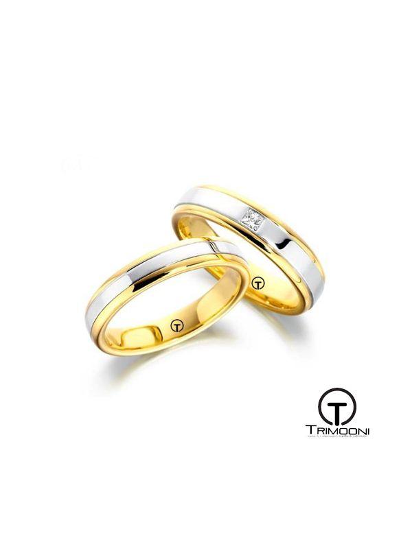 Beccia_SDO-  Set (pareja) de Argollas Matrimonio Dos Oros Trimooni 4mm Más Info...