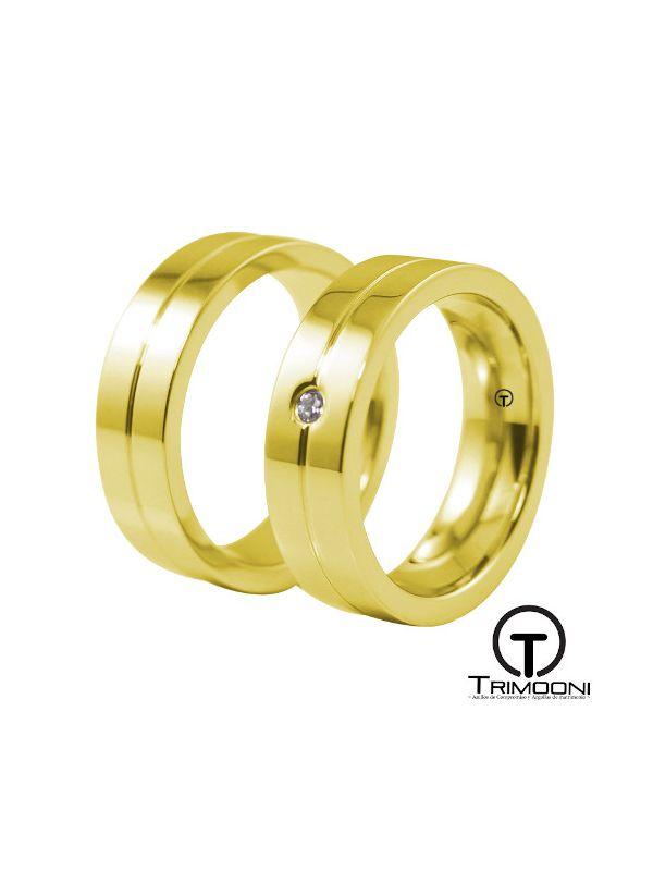 Belice_OAS-  Set (pareja) de Argollas Matrimonio Oro Amarillo Trimooni