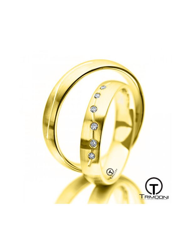 Campania_OAS-  Set (pareja) de Argollas Matrimonio Oro Amarillo Trimooni