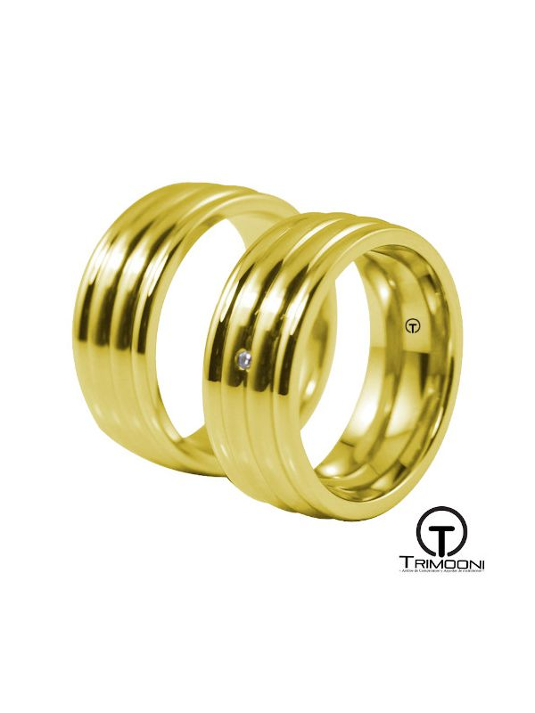 Catalu_OAS-  Set (pareja) de Argollas Matrimonio Oro Amarillo Trimooni