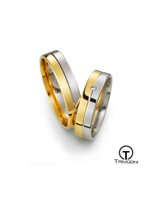 Condivisa_SDO-  Set (pareja) de Argollas Matrimonio Dos Oros Trimooni 4mm >Más Info...
