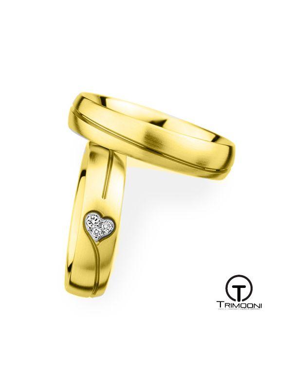 Cuore_OAS-  Set (pareja) de Argollas Matrimonio Oro Amarillo Trimooni
